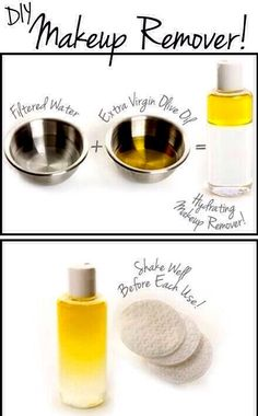 DIY Makeup Remover- How does this sound to you? This leaves you with more money for make-up! *yay*
