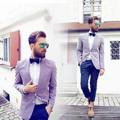 Ray Ban Sunglasses, H&M Shirt, Zara Blazer, Topman Chino, Zara Shoes, Zara Bowtie - Squared - Mali Karakurt