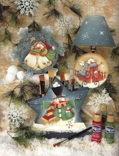 Winter Spice by Renee' Mullins-Renee' Mullins book, Winter Spice and Everything Nice is filled with fun and whimsical winter designs! Christmas Ornaments To Make, Santa Ornaments, Christmas Art, Christmas Decorations, Wooden Ornaments, Christmas Ideas, Yule Crafts, Book Crafts, Christmas Crafts
