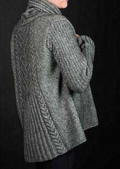 Crochet Cardigans Ravelry: Cariad pattern by Karihdesign Kari Hestnes - Cariad (sweetheart) Knit Cardigan Pattern, Sweater Knitting Patterns, Jacket Pattern, Knit Patterns, Stitch Patterns, Vogue Knitting, Loom Knitting, Hand Knitting, Cardigans For Women