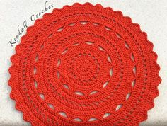 Crochet Doily Rug TShirt Yarn 100cm by KendallCrochet on Etsy