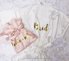 Personalized Bridesmaid Robes Bride Robe Bridal by HeresToLove