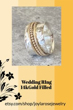 Mixed metals spinning rings. Celebrity Shoes, Bubble Wrap Envelopes, Anthropologie Shoes, Spinner Rings, Silver Gifts, Mixed Metals, Spinning, Gifts For Women, Sterling Silver Rings