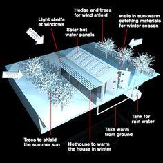 3D Model Ecological House Cutaway - 3D Model
