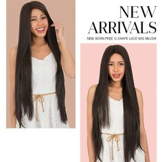 """⭐️NEW ARRIVALS⭐️ - NEW BORN FREE SYNTHETIC LACE FRONT WIG 4X4 XL MAGIC LACE U-SHAPE LACE WIG MLU08 (4x4 Hand Tied Lace Part + Ear to Ear Lace, Length: 40"""", & High Heat Resistant Fiber Up to 350'F) 💕 #blackgirlhair #newarrivals #musthave #lacefrontwig #lacewig #wig #hairinspiration #trend"""