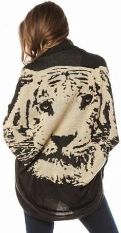Tiger Knit Cardigan Sweater <3 I want this!!!