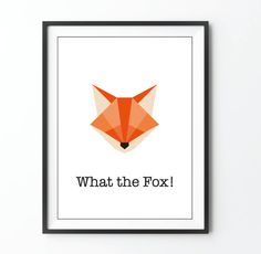 Ce que le renard  imprimer origami illustration par AstridBrisson