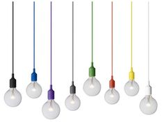 Love this lamps. Would like to have a bunch of them in black and white colors, all tied up together.