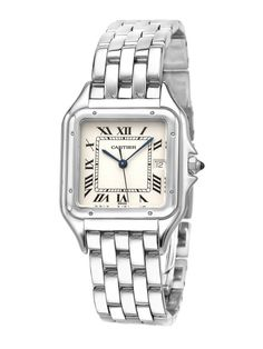 Estate Watches Unisex Cartier Panthere Mid-Size Stainless Steel Watch