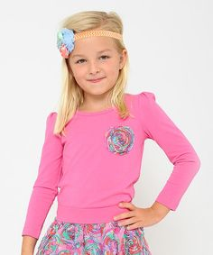 Loving this Hot Pink Chiffon Ruffle Top - Toddler & Girls on #zulily! #zulilyfinds