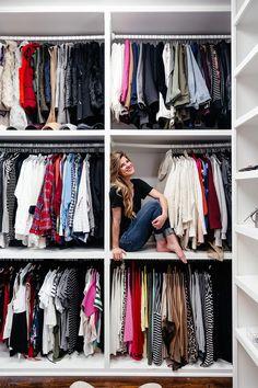 Brighton Keller closet reveal, how to organize your closet, walk in closet ideas