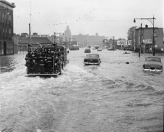 1960 - Hurricane Donna Dates active: August 29 - September 14 Peak classification: Category 5 Sustained wind speed: 160 mph (260 km/h) Areas affected: The Caribbean, Eastern United States Deaths: 164 Damage: $400 million (Pictured) A fire tender being driven through a flooded street in New York on Sept. 16, 1960, in the wake of Hurricane Donna.
