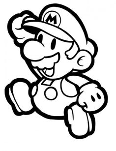 Paper mario 64 coloring pages