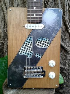 Customized Handmade Cigar Box Guitar by MancaGuitars on Etsy