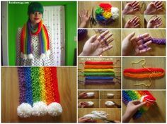 knitted scarves, rainbow dash, craft, diy tutorial, fingers, knitting scarves, knit scarves, finger knitting, art projects