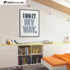 Do It Yourself Furniture, Alternative Movie Posters, Frame It, Cool Posters, Typography Poster, My Way, Unique Art, Office Decor, Contemporary Art