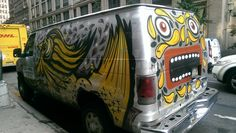 Gallery Mondays: URBANIMAL Graffiti on K&M Camera's Van