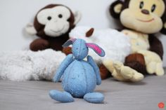 I made this little felted rabbit for my Terezka to her first birthday.It's unbelievable that it is more than three years ago! But she still loves him… handmade