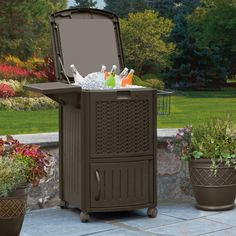 Suncast Cooler Station with Cabinet * This is an Amazon Affiliate link. Click on the image for additional details.