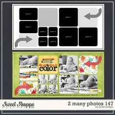Sweet Shoppe Designs :: 2 Page Layout Templates :: 2 Many Photos 147 by Janet Phillips