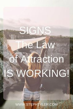 Signs That The Law Of Attraction Is Working #lawofattraction #manifesting #spirituality #manifest