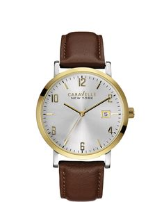 Caravelle New York Men's Watch #44B108 / Retail Price $100 | In-stock watches are 30% OFF and catalog orders are 25% OFF! | Click website for watch details | Andrew Gallagher Jewelers, Newark, DE | 302-368-3380 | WE SHIP!!! DON'T FORGET! There is NO Sales Tax in Delaware!!! |