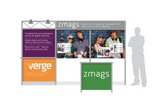 Zmags. Trade show booth graphics.
