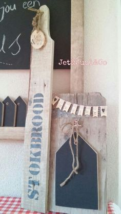 Memobord & stokbroodplank. Jet&Juul&Co