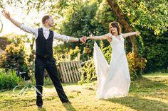 Wedding first dance. Summer evening light. Rebecca Roundhill Photography.