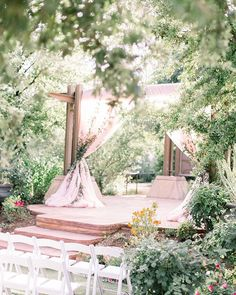 is a secret garden oasis in the middle of this desert! Look at all that greenery! Wedding Budget Breakdown, Budget Wedding, Garden Oasis, Outdoor Ceremony, Botanical Gardens, Getting Married, Greenery, Gazebo, Middle