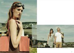 SS14  Bag Label Coral - Choco Trenchbag by Mugon Officebag  Spring Summer Feelings