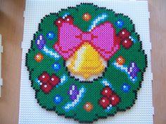 Christmas wreath -- perler beads