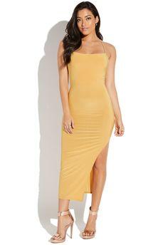 97fb5fd7e7f0 DRAPE FRONT HIGH SLIT DRESS High Slit Dress