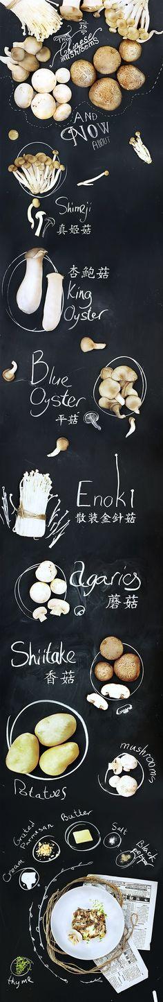 Chinese mushrooms on Behance
