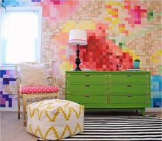 Pixelated Wall Art | 24 Home Improvement Ideas For Your American Dream Home