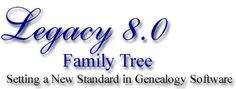 Legacy Family Tree Genealogy Software - free standard edition download
