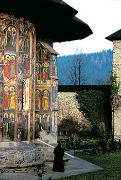 Moldovita Monastery- a Romanian Orthodox monastery situated in the commune of Vatra Moldoviței, Suceava County, Moldavia, Romania. UNESCO World Heritage Site. Bulgaria, Transylvania Romania, Visit Romania, Romania Travel, Place Of Worship, Eastern Europe, World Heritage Sites, Places To See, Macedonia