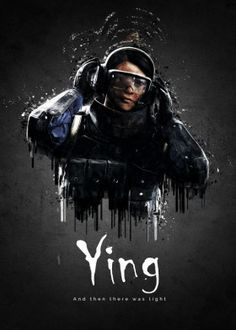 'Operator Ying from Rainbow Six Siege' Poster by traxim Rainbow Six Siege Poster, Rainbow Six Siege Memes, Rainbow 6 Seige, Tom Clancy's Rainbow Six, Siege Operators, Six Video, Rainbow Wallpaper, Video Game Art, Military Art