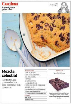 torta peras y chocolate