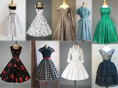 Fotos originais dos anos 50   Inspirações para festa retrô 1950 Outfits, Vintage Outfits, 1950s Fashion Dresses, Vintage Fashion 1950s, Vintage Dresses 50s, Vintage Mode, Retro Dress, Retro Fashion, Fashion Outfits