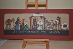 Christmas Makes, Xmas, Christmas Crafts, Christmas Decorations, Nativity Scenes, Country Paintings, Villas, Primitive, Scenery