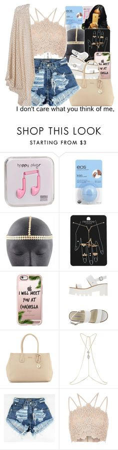 """ready for summer 1."" by trillestqueen ❤ liked on Polyvore featuring Happy Plugs, Eos, Topshop, Casetify, Windsor Smith, Furla and River Island"