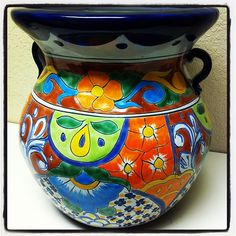 Talavera Planter Approx $100 #oldworldpotteryofwichitafalls #talavera #pottery #planter #home #decor