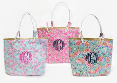 Monogrammed Lilly Inspired Totes just $29.99!
