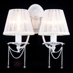 Applique en organza Lolita, référence 6727008 - Lampes et luminaires de style shabby chic, le charme à l'anglaise chez Luminaire.fr !