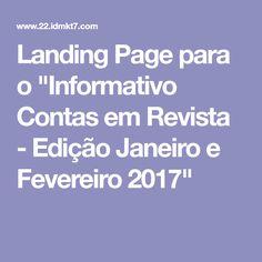 """Landing Page para o """"Informativo Contas em Revista - Edição Janeiro e Fevereiro 2018"""""""