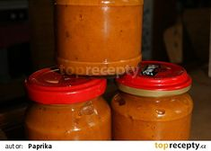 Chilli omáčka od Bohouška recept - TopRecepty.cz Hot Sauce Bottles, Pesto, Chili, Salsa, Smoothie, Food, Red Peppers, Chile, Essen