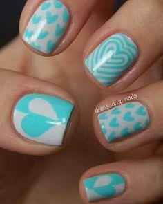 Blue nailart