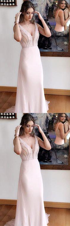 Elegant V-Neck A-Line Prom Dresses,Long Prom Dresses,Cheap Prom Dresses, Evening Dress Prom Gowns, Formal Women Dress,Prom Dress