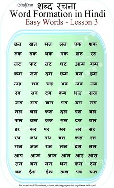 Learn to Read Hindi for Kids.Learn to read 2 Letter Hindi Words - Lesson Basic Hindi words and word formation without Matras made very easy for kids and beginners. Hindi Worksheets, Alphabet Worksheets, Alphabet Charts, Grammar Worksheets, Free Kindergarten Worksheets, Reading Worksheets, Hindi Poems For Kids, Scrabble Words, Hindi Language Learning